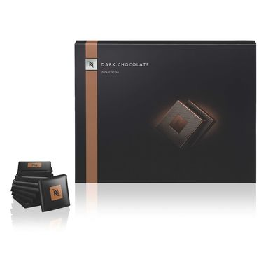 Individually wrapped exclusive dark chocolate squares - Nespresso Professional