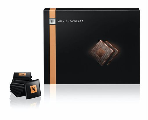 Individually wrapped exclusive milk chocolate squares - Nespresso Professional
