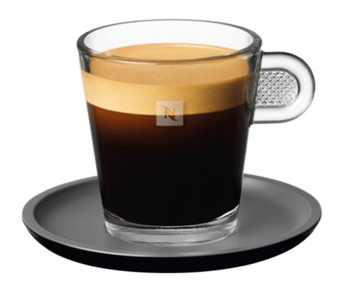 Lungo glass cup - serving inspiration by Nespresso Professional